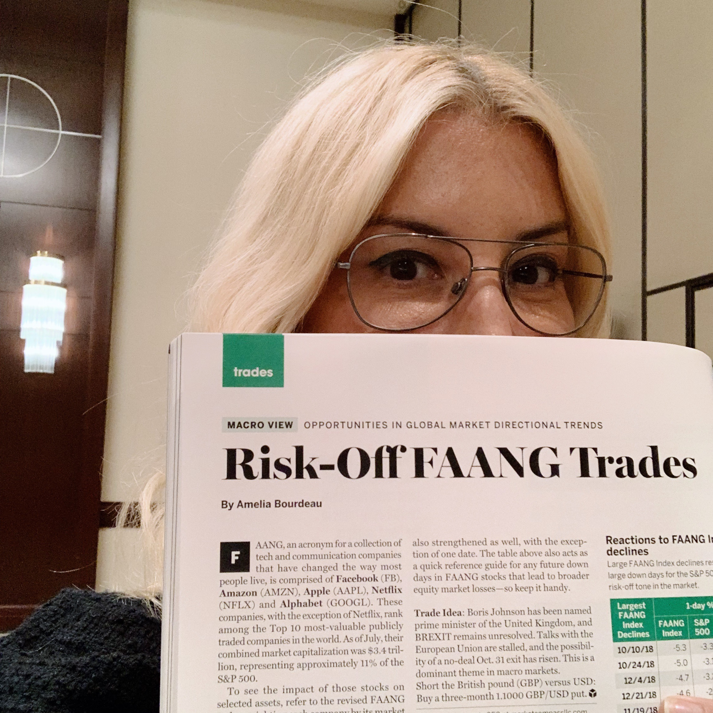 Risk-Off FAANG Trades  (September 2019)